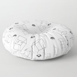 Math number pi and cubes pattern  Floor Pillow
