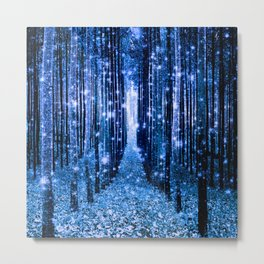 Magical Forest Bluest Blue Metal Print