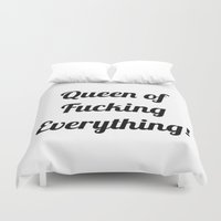 queen Duvet Covers featuring Queen  by I Love Decor
