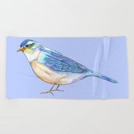 Bluebird of Happiness Beach Towel