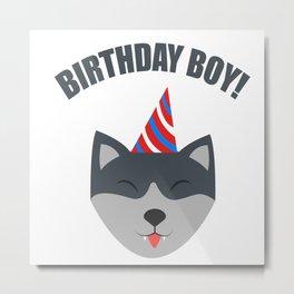 Boy Birthday Wolf Kids Children Party Celebration gift idea Metal Print