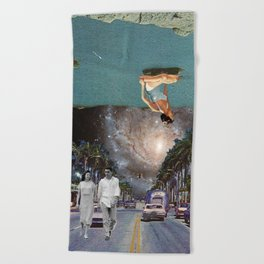The Mind on Tormented Tides Beach Towel