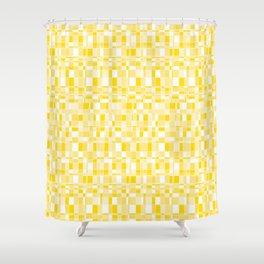 Mod Gingham - Yellow Shower Curtain