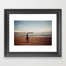 Staring at the Sea #2 Framed Art Print