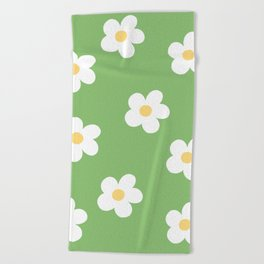 Retro 60's Flower Power Print Beach Towel