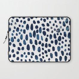 Blue Watercolour Spots Laptop Sleeve