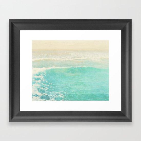 beach ocean wave. Surge. Hermosa Beach photograph Framed Art Print