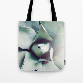 Succulent Love - Agave Green Gray Tote Bag