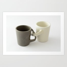 Engagement mugs Art Print