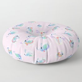 Daphnia - pink Floor Pillow