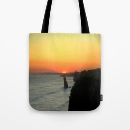 Sunsetting over the Great Southern Ocean Tote Bag