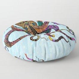 Electric Octopus Floor Pillow