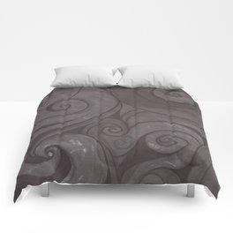 Black on black Comforters