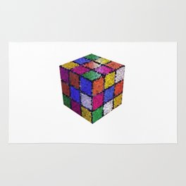 The color cube Rug