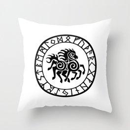 Norse - Sleipnir Throw Pillow