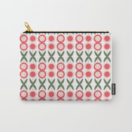 Folk Floral - White Carry-All Pouch