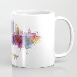 Denver skyline in watercolor Coffee Mug