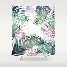 tropical leaves 2 Shower Curtain