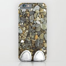 Brown pebbles and silver shoes iPhone 6s Slim Case