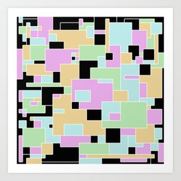 Pastel Geometric Pattern Art Print