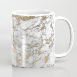 Modern chic faux gold white elegant marble Coffee Mug