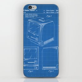 Apple Macintosh Patent - Apple Art - Blueprint iPhone Skin