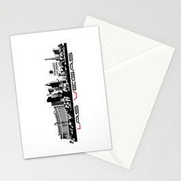 Las Vegas skyline black Stationery Cards