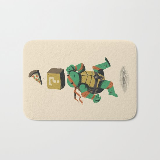 turtle power..up Bath Mat