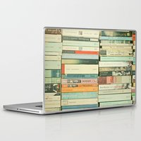 laptop Laptop & iPad Skins featuring Bookworm by Cassia Beck