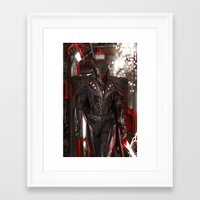 dark side Framed Art Prints featuring Dark Side by Jiyu-Kaze™