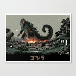 Godzilla - Gray Edition Leinwanddruck