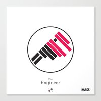 engineer Canvas Prints featuring The Engineer by MASS collective