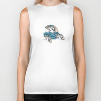 fantasy Biker Tanks featuring Oriental FanTasy by Paula Belle Flores