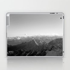 Mountain Alps Black and White Photography Europe Laptop & iPad Skin