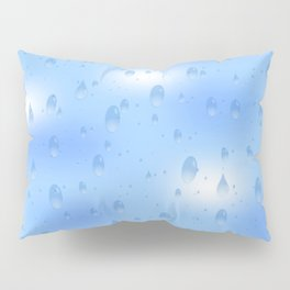 Water dops with sky background Pillow Sham