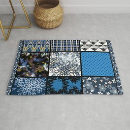 Favorite blanket and pillows . Patchwork 2 Rug