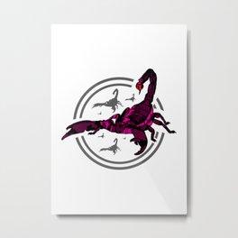 PINK Scorpion Metal Print