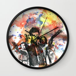 Fire Fly Poster Wall Clock