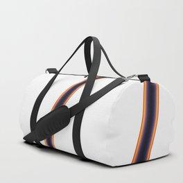 White Stripes Duffle Bag