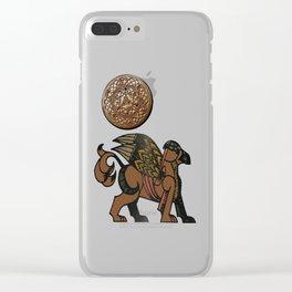 Gryphon New Age Mythology Folk Art Clear iPhone Case