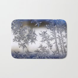 Frost Covered Glass Bath Mat