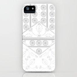 vintage mandala tile iPhone Case