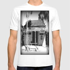 Butcher or Barber White MEDIUM Mens Fitted Tee