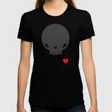 HEART BREAKER - ed. fact Womens Fitted Tee SMALL Black