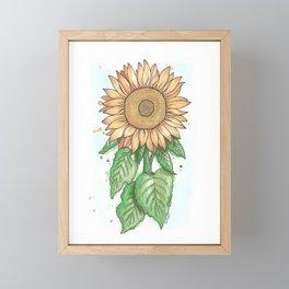 Cheerful Sunflower Framed Mini Art Print