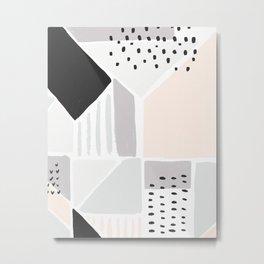 Neutral Geometric Art Print Metal Print