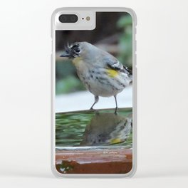 Reading the Evening Mirror Clear iPhone Case