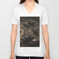 street V-neck T-shirts featuring Street by juzclick227