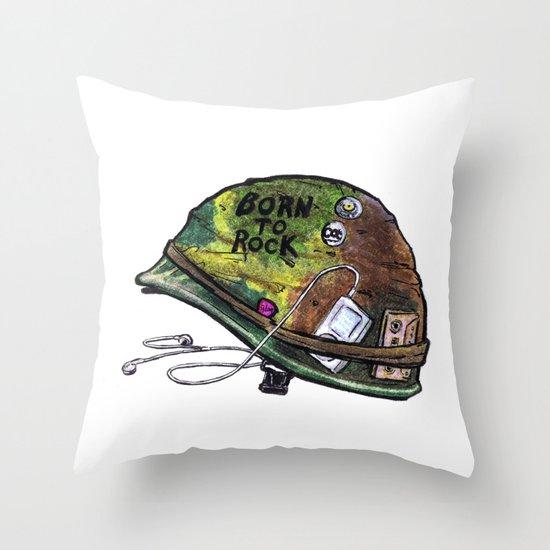 """Born to Rock"" by Cap Blackard Throw Pillow"