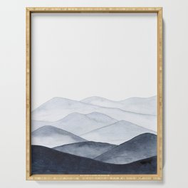 Watercolor Mountains Serving Tray